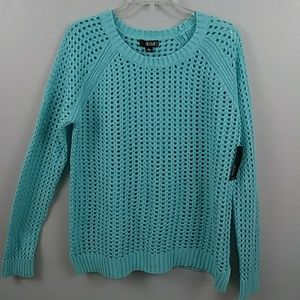 NWT A.N.A stretch cable knit sweater size PXL